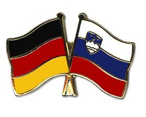 Deutschland-Slowenien Freundschaftspin Flaggenpin