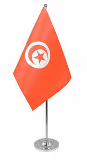 Tunesien Tischfahne 22,5x15cm Satin
