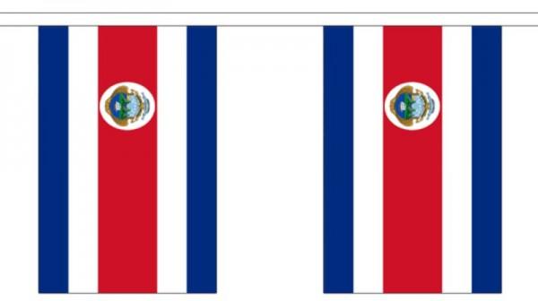 Costa RicaLänderkette 3 m - 10 Flaggen á 15x22,5cm