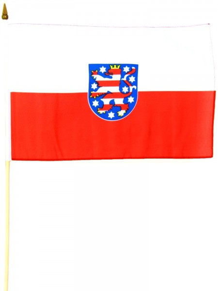 Thüringen Stockfahne 30cm x 45 cm