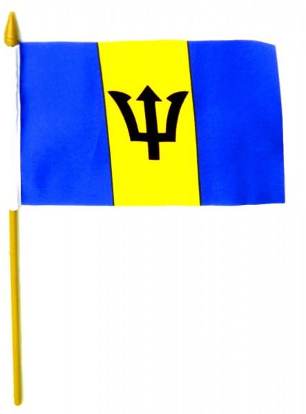 Barbados Tischfahne 10x15cm
