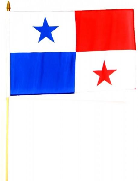 Panama Stockfahne 30cm x 45 cm