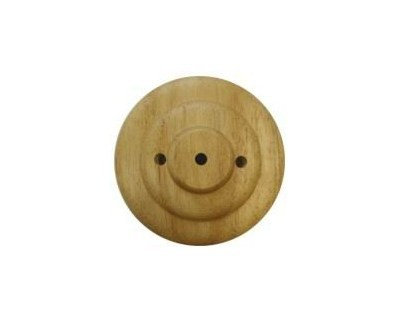 Tischsockel Fahnenaufsteller Holz - 3 Löcher - für Stockfahnen 30x45cm