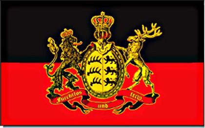 Württemberg Flagge -furchtlos und treu 90 x 150 cm