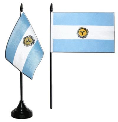 Argentinien Tischfahne 10x15cm