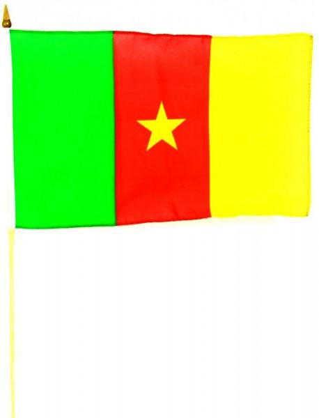 Kamerun Stockfahne 30 x 45 cm
