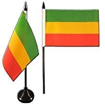 Äthiopien Tischfahne 10x15cm