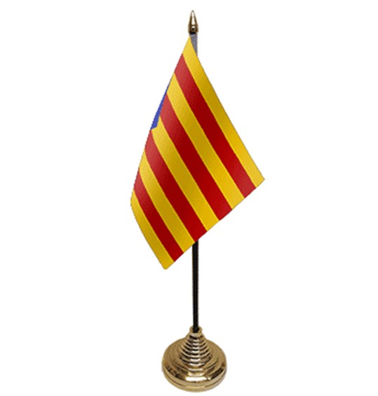 Kataloniens Tischfahne 10x15cm
