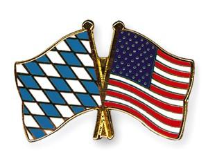 Bayern-USA Freundschaftspin Flaggenpin