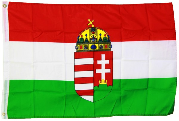 Ungarn Flagge 150x250cm mit Wappen