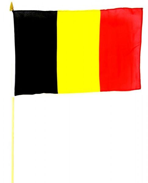 Belgien Hohlsaumfahne 30x45 cm