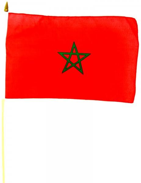 Marokko Stockfahne 30cm x 45 cm