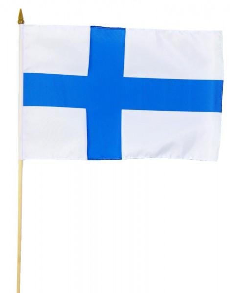 Finnland Stockflagge 30x45 cm