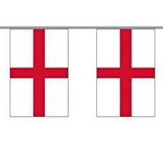 England Länderkette 3 m - 10 Flaggen á 15x22,5cm