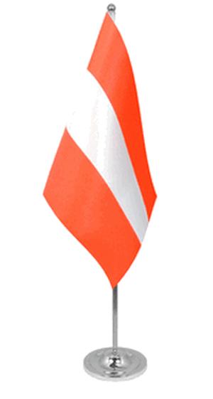 Österreich Tischfahne 22,5x15cm Satin