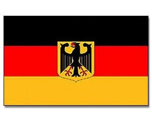 Deutschlandflagge mit Adler 90 x 150 cm
