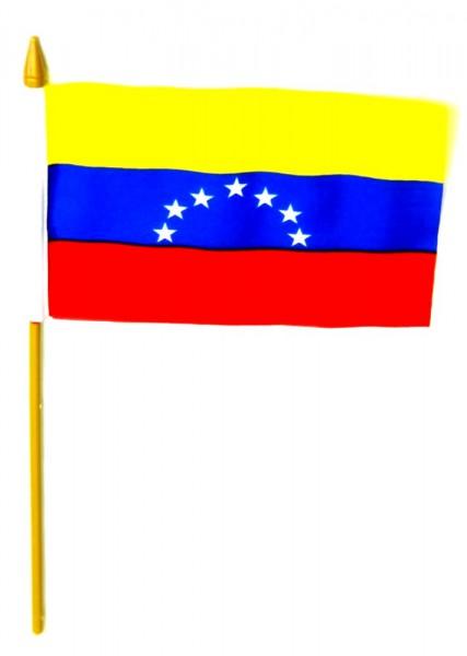 Venezuela Tischfahne 10x15cm