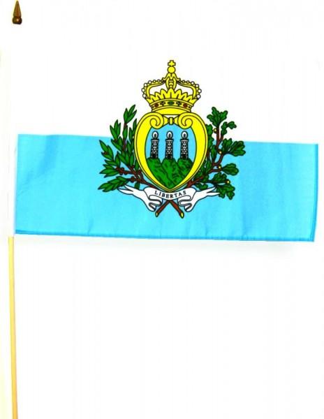 San Marino Stockfahne 30 x 45 cm