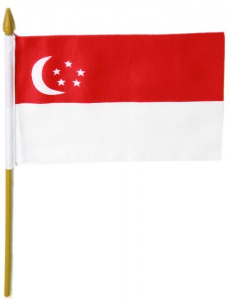 Singapur Tischfahne 10x15cm