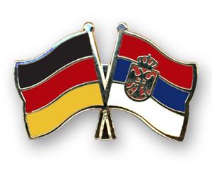 Deutschland-Serbien Freundschaftspin Flaggenpin