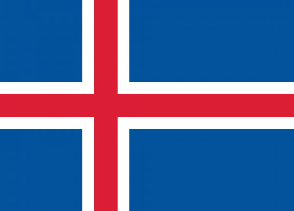 Islandflagge 90 x 150 cm