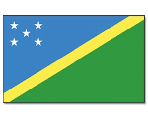 Salomonen Flagge 90 x 150 cm