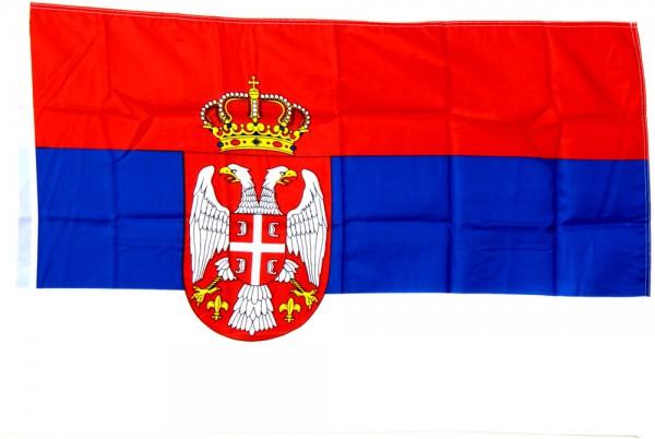 Serbien Hohlsaumflagge 60x90 cm