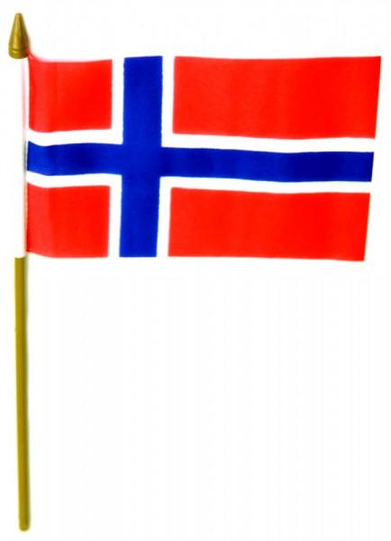 Norwegen Tischfahne 10x15cm