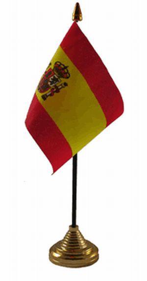 Spanien Tischfahne 10x15cm mit Wappen