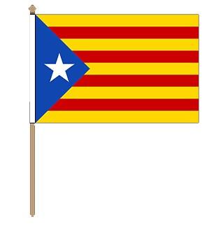 Kataloniens Stockfahne 30cm x 45 cm