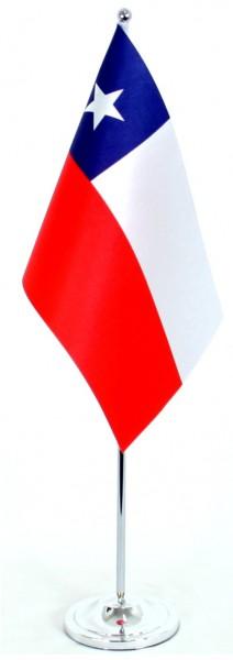 Chile Tischfahne 22,5x15cm Satin