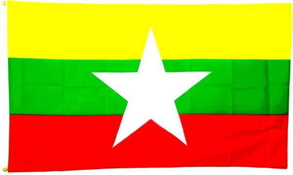 Myanmar Flagge 90 x 150 cm