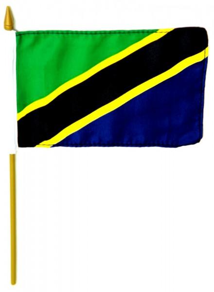 Tansania Tischfahne 10x15cm