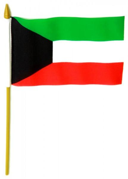 Kuwait Tischfahne 10x15cm