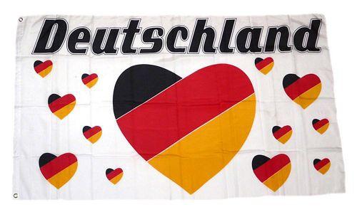 Deutschland Fan Flagge 90 x 150 cm Nr 13