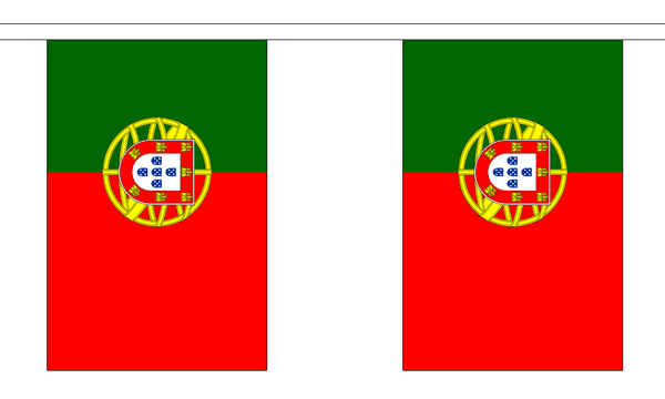 Portugal Länderkette 3 m - 10 Flaggen á 15x22,5cm