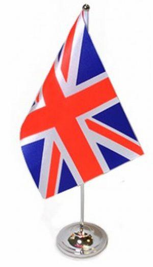 Großbritannien Tischfahne 22,5x15cm Satin
