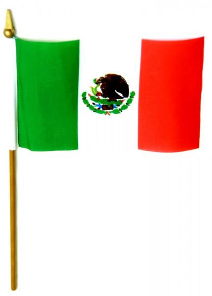 Mexiko Tischfahne 10x15cm