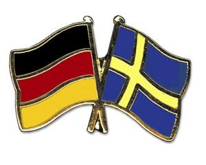 Deutschland-Schweden Freundschaftspin Flaggenpin