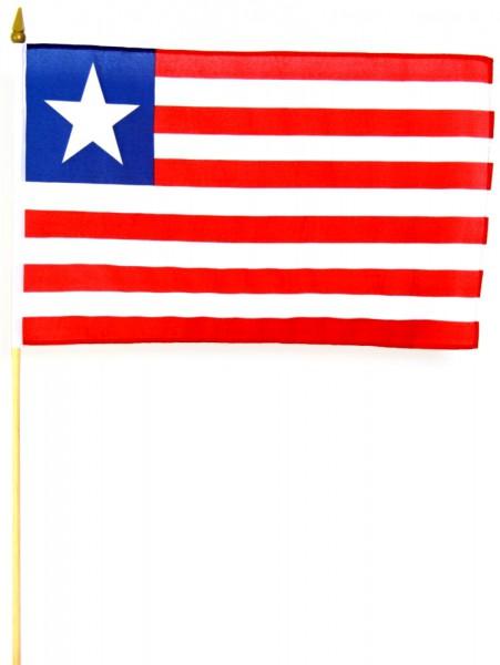 Liberia Stockfahne 30 x 45 cm