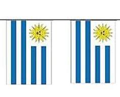 Uruguay Länderkette 3 m - 10 Flaggen á 15x22,5cm