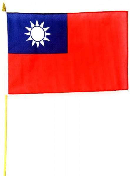 Taiwan Stockfahne 30cm x 45 cm