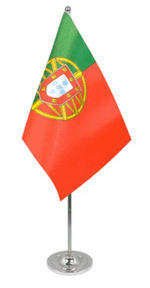 Portugal Tischfahne 22,5x15cm Satin