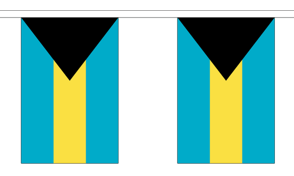 Bahamas Länderkette 3 m - 10 Flaggen á 15x22,5cm