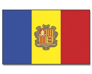 Andorra Stockfahne 30cm x 45cm