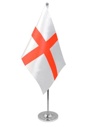 England Tischfahne 22,5x15cm Satin