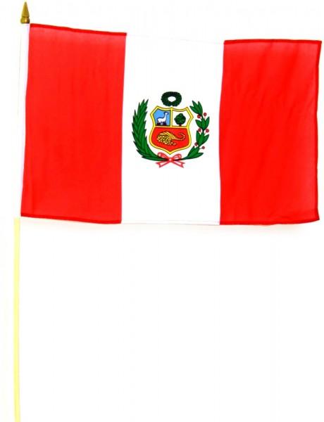 Peru Stockfahne 30cm x 45 cm