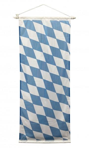Bayerische Minibanner Raute Weiß-Blau 52 x120 cm