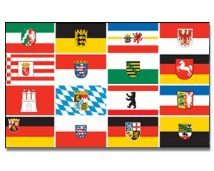 Deutschland Flagge 90 x 150 cm - 16 Bundesländer
