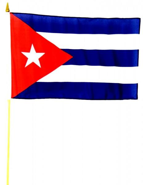 Kuba Stockfahne 30cm x 45 cm
